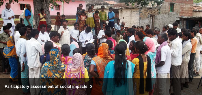 Participatory assessment of social impacts