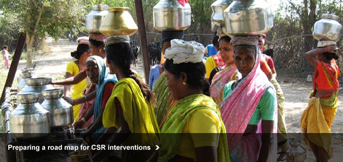 Preparing a road map for CSR interventions